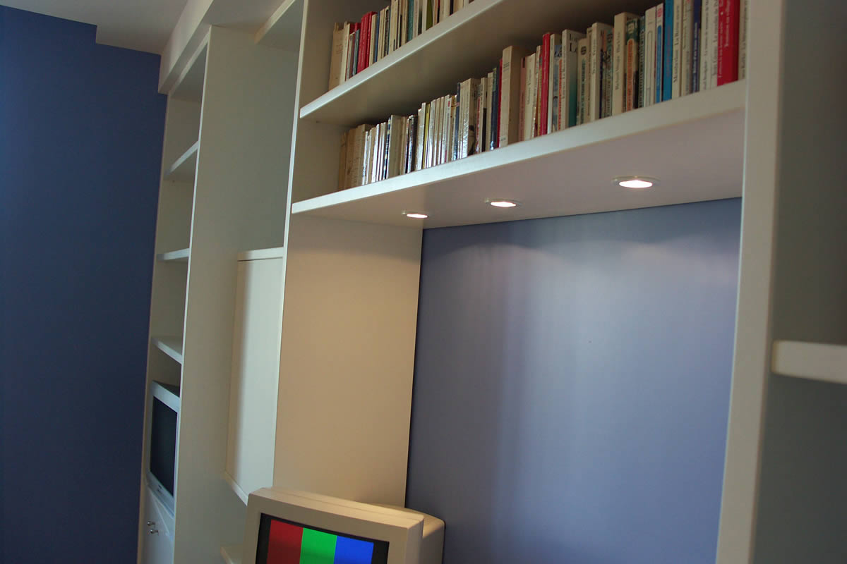 Am nagement de chambre de gar on cholet yves cl ment d corateur d 39 int - Bureau bibliotheque integre ...