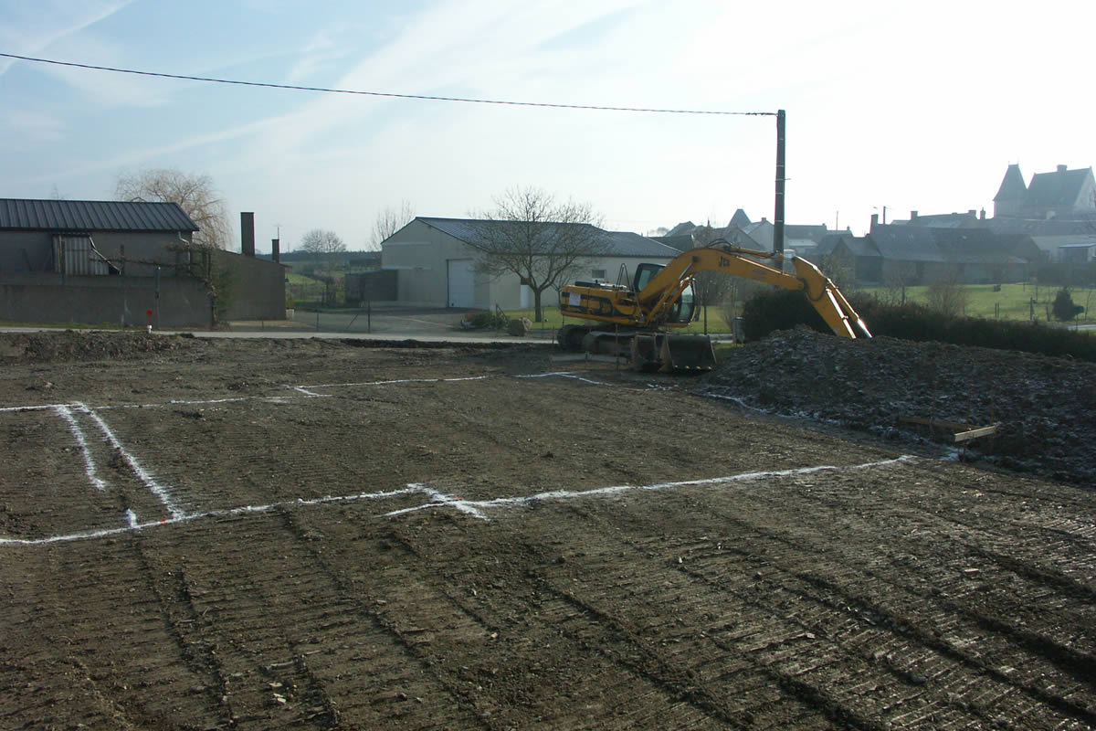 Construction de maison locative yves cl ment for Sondage terrain avant construction