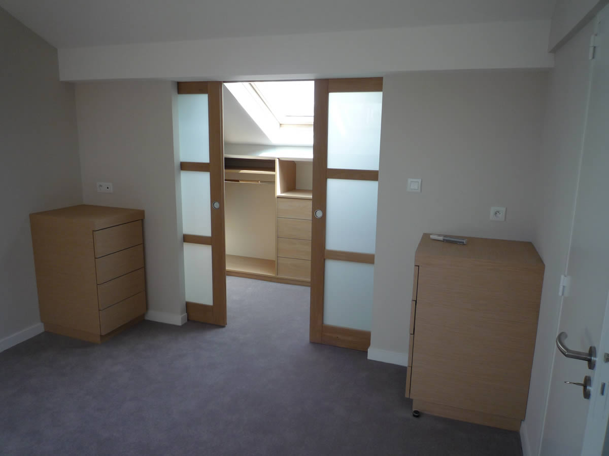Architecture nantes yves cl ment architecte int rieur for Chambre parentale comble