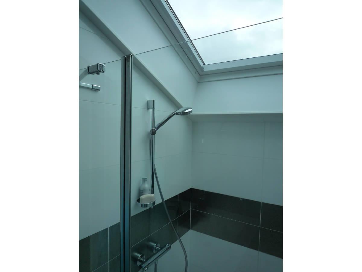 Chambre et salle d 39 eau dans garage yves cl ment architecte int rieur - Salle d eau dans chambre ...
